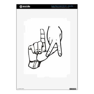Los Angeles Hand Sign iPad 3 Decals