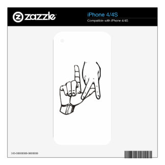 Los Angeles Hand Sign iPhone 4S Decals