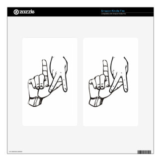 Los Angeles Hand Sign Kindle Fire Skin