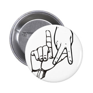 Los Angeles Hand Sign Pinback Button