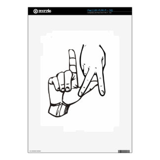 Los Angeles Hand Sign Skin For The iPad 2