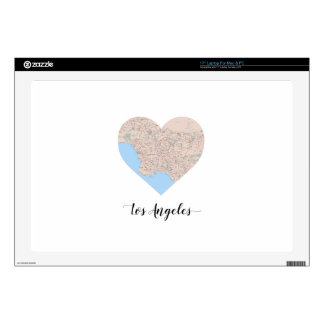 "Los Angeles Heart Map Decals For 17"" Laptops"