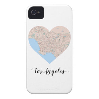 Los Angeles Heart Map iPhone 4 Case