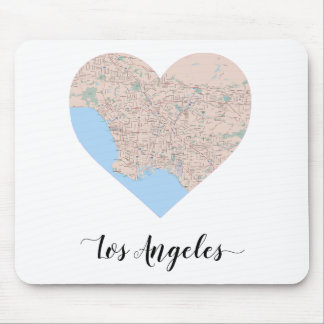 Los Angeles Heart Map Mouse Pad