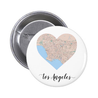 Los Angeles Heart Map Pinback Button
