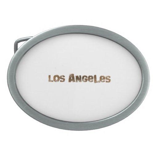 Los Ángeles Hebillas Cinturón Ovales