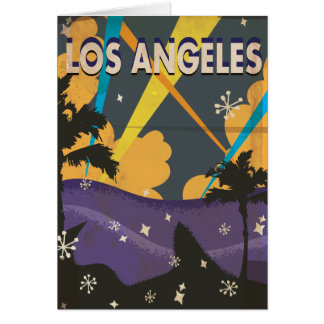 Los Angeles Hollywood Vintage vacation Poster Card