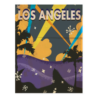 Los Angeles Hollywood Vintage vacation Poster Postcard