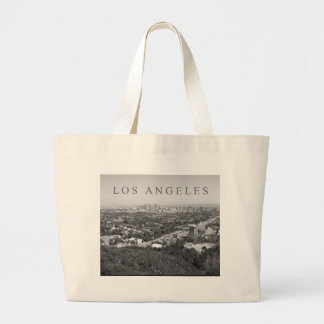 Los Angeles in Black and White Large Tote Bag