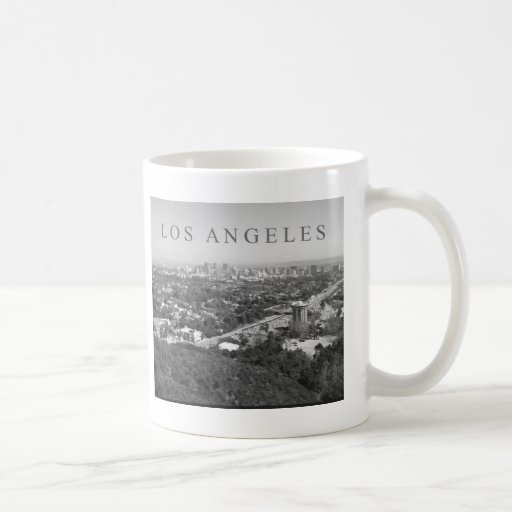 Los Angeles in Black and White Coffee Mugs