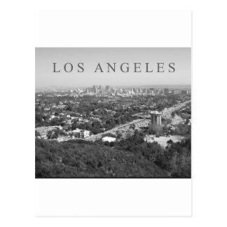 Los Angeles in Black and White Postcard
