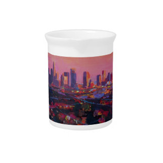 Los Angeles Infinity Skyline with Infinite Pool Pitchers