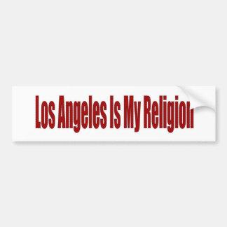 Los Angeles Is My Religion Bumper Sticker