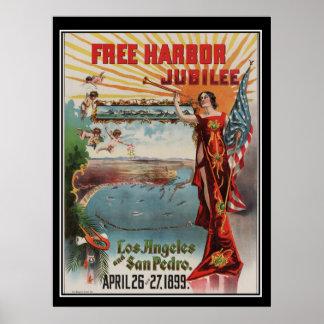 Los Angeles Jubilee 1899 Vintage poster