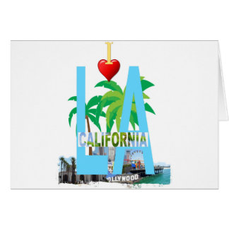 los angeles  l a california city usa america card