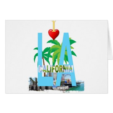 Beach Themed los angeles  l a california city usa america card