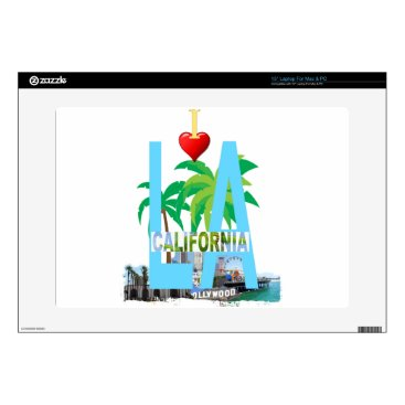 Beach Themed los angeles  l a california city usa america laptop skin