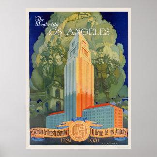 Los Ángeles la ciudad de la maravilla Posters
