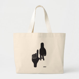 LOS ANGELES LA HAND SIGN LARGE TOTE BAG
