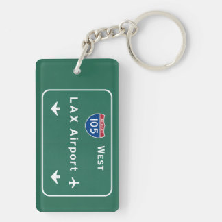 Los Angeles LAX Airport I-105 W Interstate Ca - Keychain