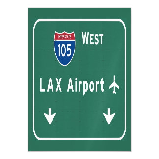 Los Angeles LAX Airport I-105 W Interstate Ca - Magnetic Card