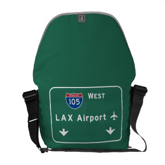 Los Angeles LAX Airport I-105 W Interstate Ca - Messenger Bag