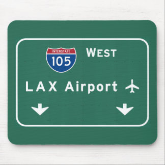 Los Angeles LAX Airport I-105 W Interstate Ca - Mouse Pad