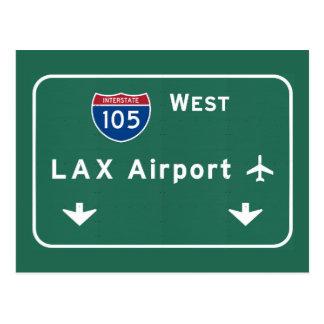 Los Angeles LAX Airport I-105 W Interstate Ca - Postcard