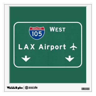 Los Angeles LAX Airport I-105 W Interstate Ca - Wall Sticker