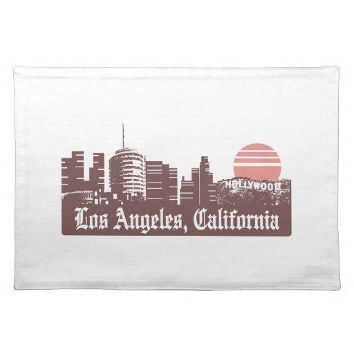 Los Angeles Linesky Cloth Place Mat