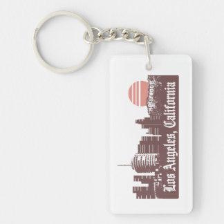 Los Angeles Linesky Single-Sided Rectangular Acrylic Keychain