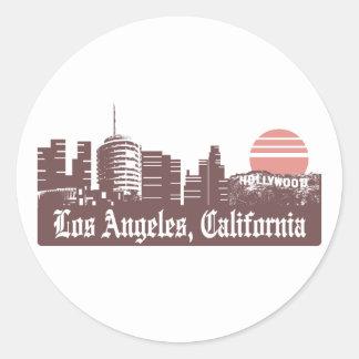Los Angeles Linesky Classic Round Sticker