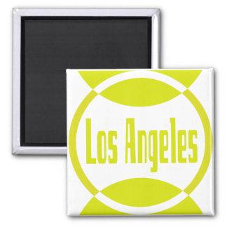 Los Angeles Logo Design #1- Lemon Yellow Magnet Magnets