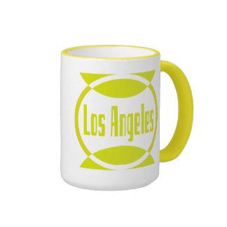 Los Angeles Logo Design #1- Lemon Yellow Mug Cup