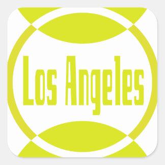 Los Angeles Logo Design #1- Lemon Yellow Stickers