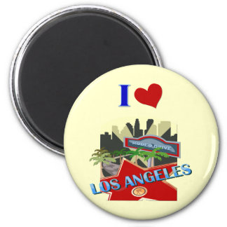 Los Angeles 2 Inch Round Magnet