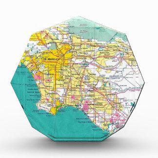 Los Angeles Map Acrylic Award