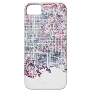 Los Angeles map California watercolor painting iPhone SE/5/5s Case