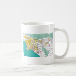 Los Angeles Map Coffee Mug