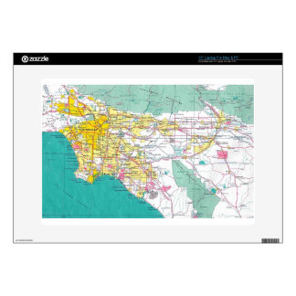 Los Angeles Map Laptop Decals