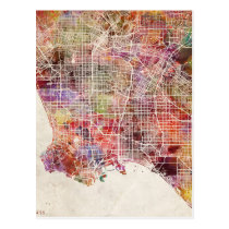 Los Angeles map Postcard