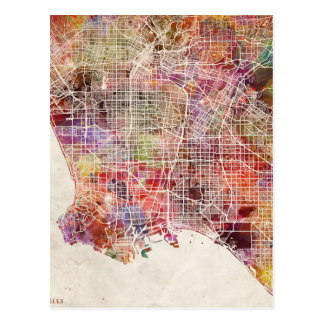 Los Ángeles map Tarjetas Postales
