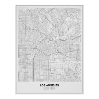 Los Angeles Minimalist Map Poster (Style 2)