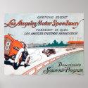 Los Angeles Motor Speedway Poster