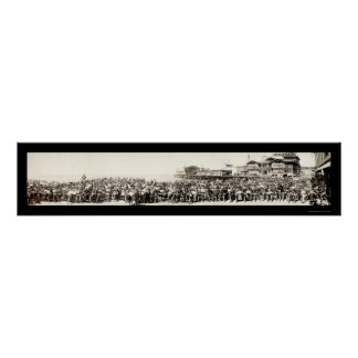 Los Angeles Motorcycle Club Photo 1911 Poster