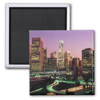 Los Angeles Night Lights Refrigerator Magnets
