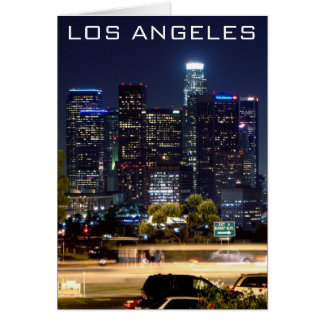 Los Angeles Night Paper Products Greeting Card