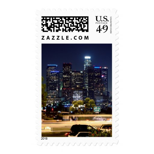 Los Angeles Night Paper Products Stamp