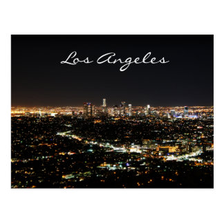 Los Angeles Night postcard