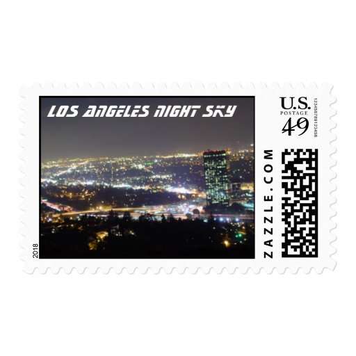 Los Angeles Night Sky Postage Stamp
